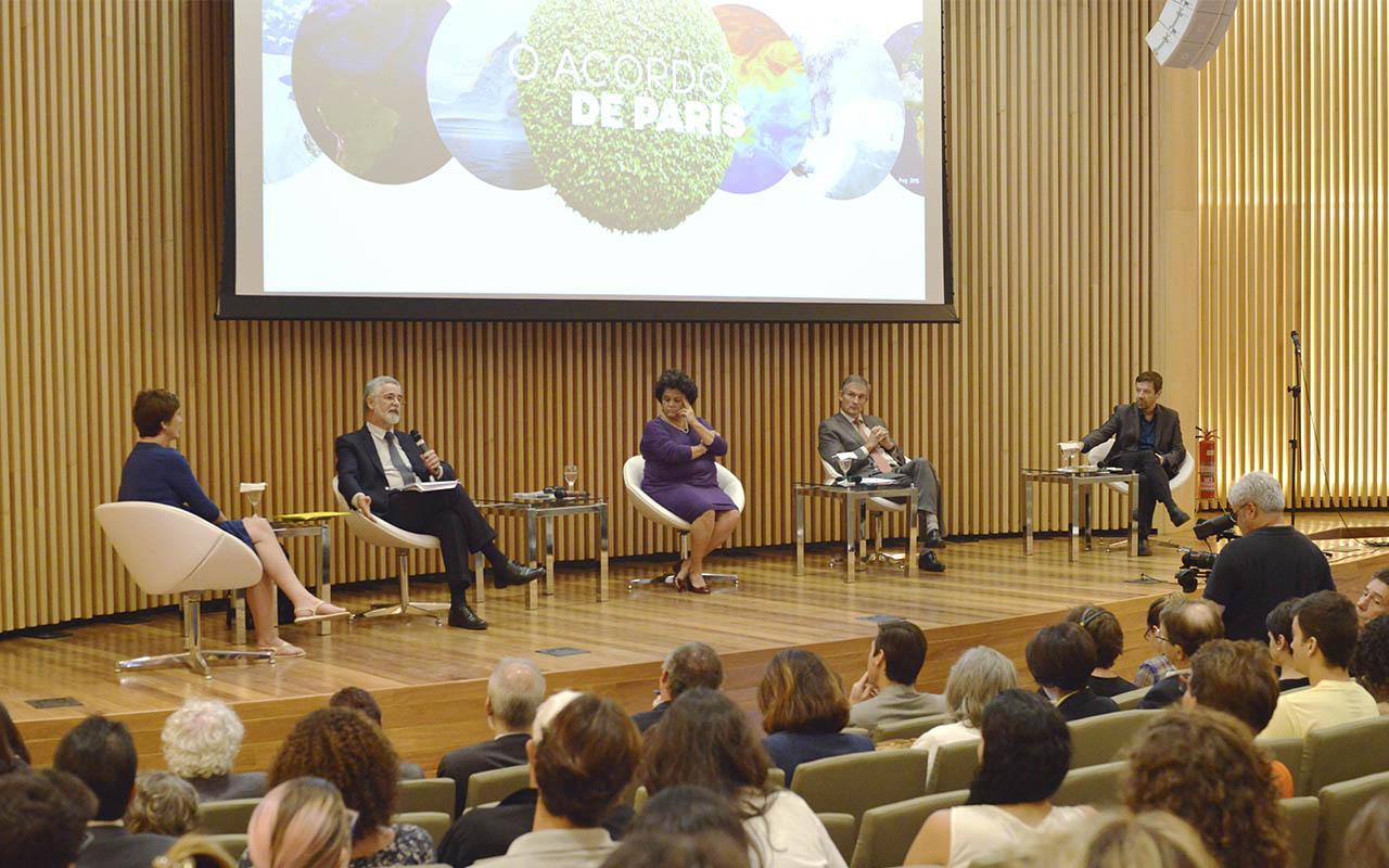 Seminário no auditório do Museu debate os resultados da COP21 / Foto: Marcos Tristão - Museu do Amanhã