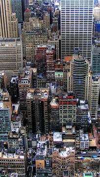 Foto aérea de prédios de uma cidade