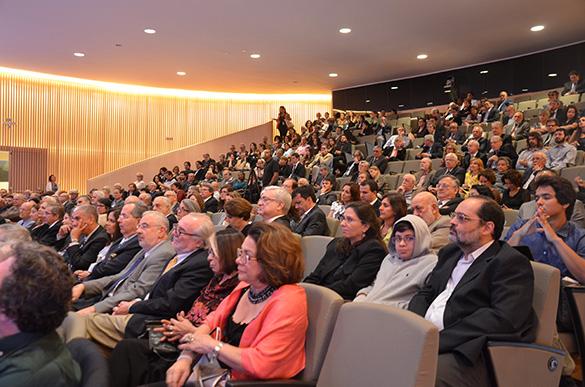 O auditório do Museu do Amanhã lotado durante sessão da Reunião Magna da Academia Brasileira de Ciências / Foto: ABC