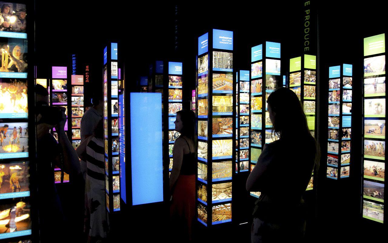 Interior do cubo do Pensamento / Foto: Bernard Lessa