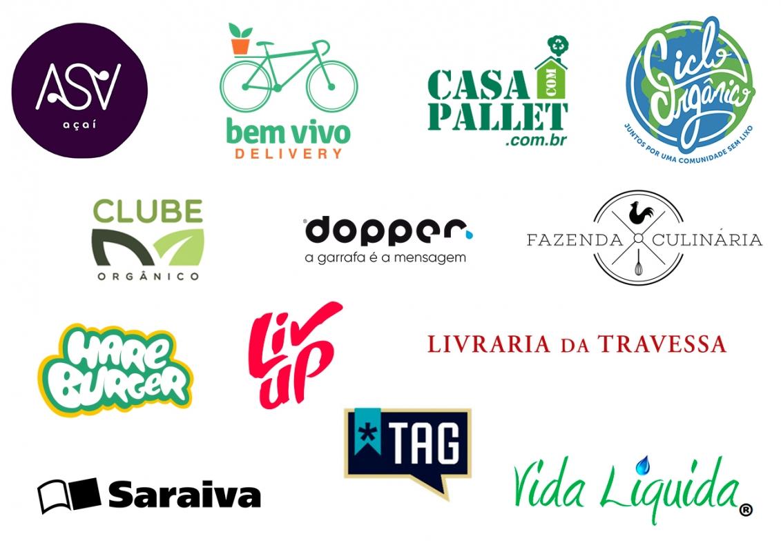 Mosaico com logos dos parceiros do NOZ - Amigos do Amanhã