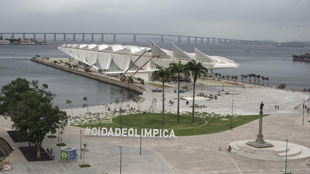 Museu do Amanhã visto do Museu de Arte do Rio