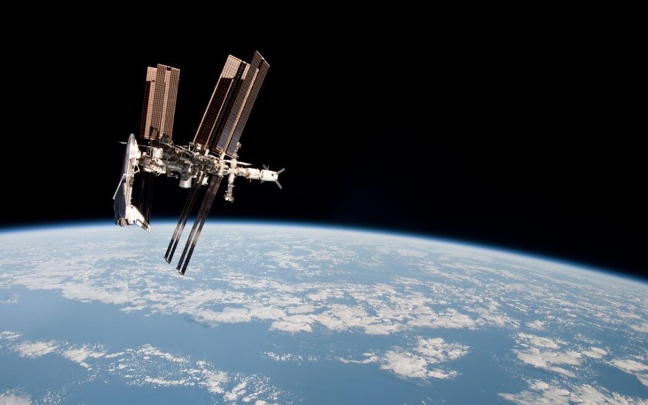 A Estação Espacial Internacional, maior construção humana no espaço / Foto: NASA