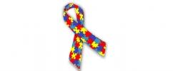 Laço colorido que representa o símbolo do autismo