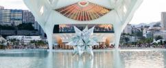 Parte de trás do Museu do Amanhã com estrela prata dentro do espelho d'agua / Foto: Derek Mangabeira